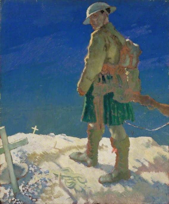 A Highlander Passing a Grave