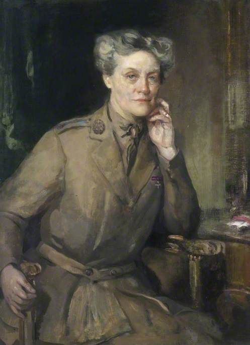 Mrs Chalmers, CBE, Director of QMAAC