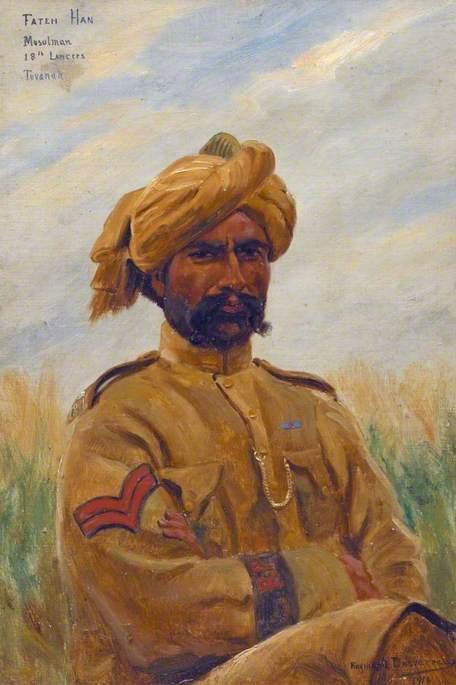 Fateh Han, Musulman: 18th Lancers, Tuvanah