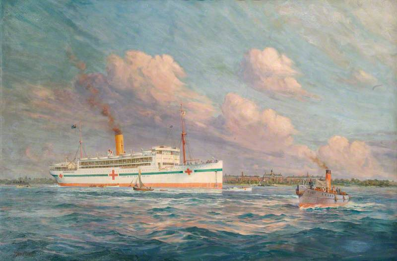 HM Hospital Ship 'Llandovery Castle', Union Castle Line, Sunk by Enemy Submarines, 27 June 1918