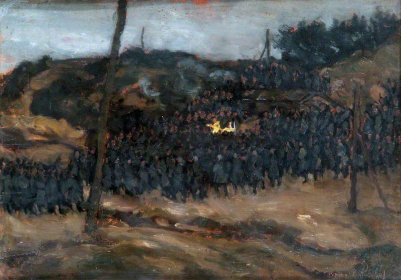 Mass in the Field, Russian Front