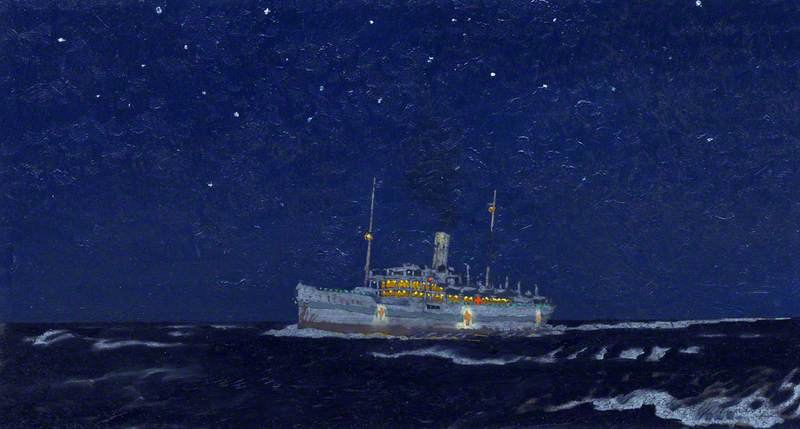 A Hospital Ship at Night