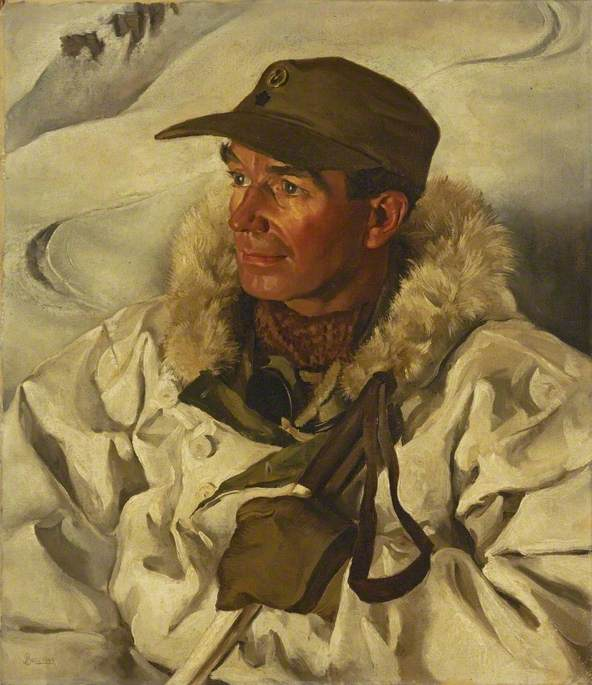 Major W. J. Riddell, Chief Instructor of the Mountaineer Wing of the Mountain Warfare School, Marine Expeditionary Force