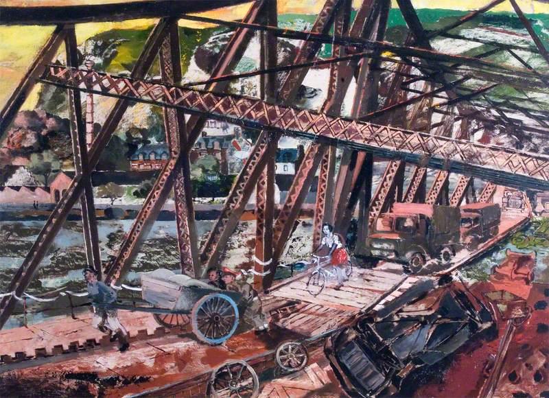 The Break through, France: 'Marmalade Bridge', A Railway Bridge Crossing the River Seine at Rouen