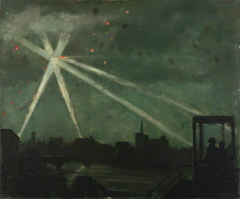 An Observation Post: Flying Bomb Raid