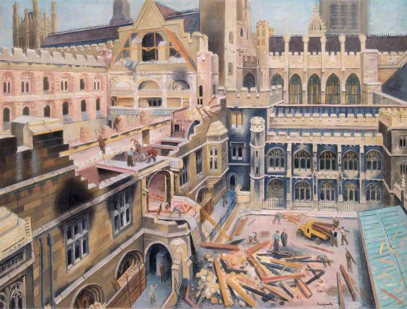 Chamber of the House of Commons: Bomb Damage