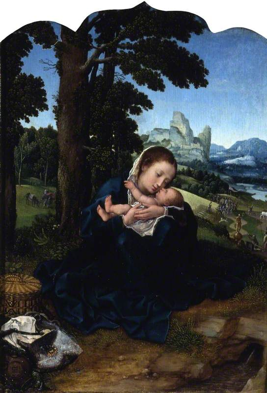 The Virgin and Child Resting in an Imagined Landscape