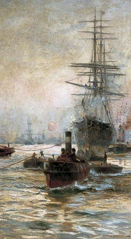 Shipping in the Pool of London