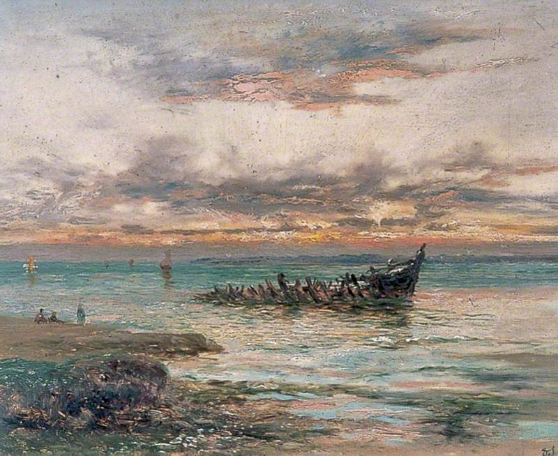 The Wreck at Sunset, Seasalter, Kent