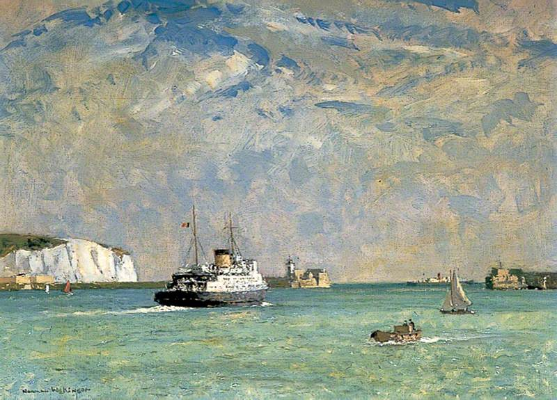 The Ostend Boat Leaving Dover, Kent