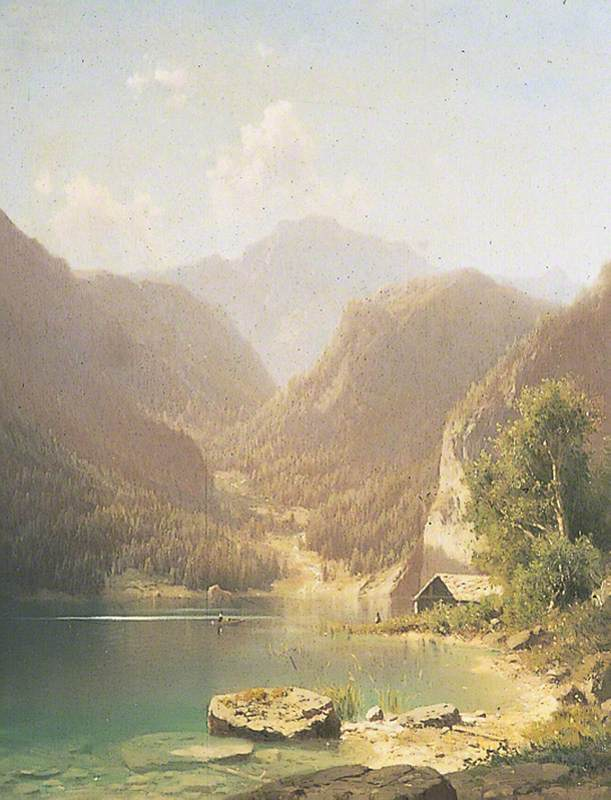 Mountainous Lake Scene