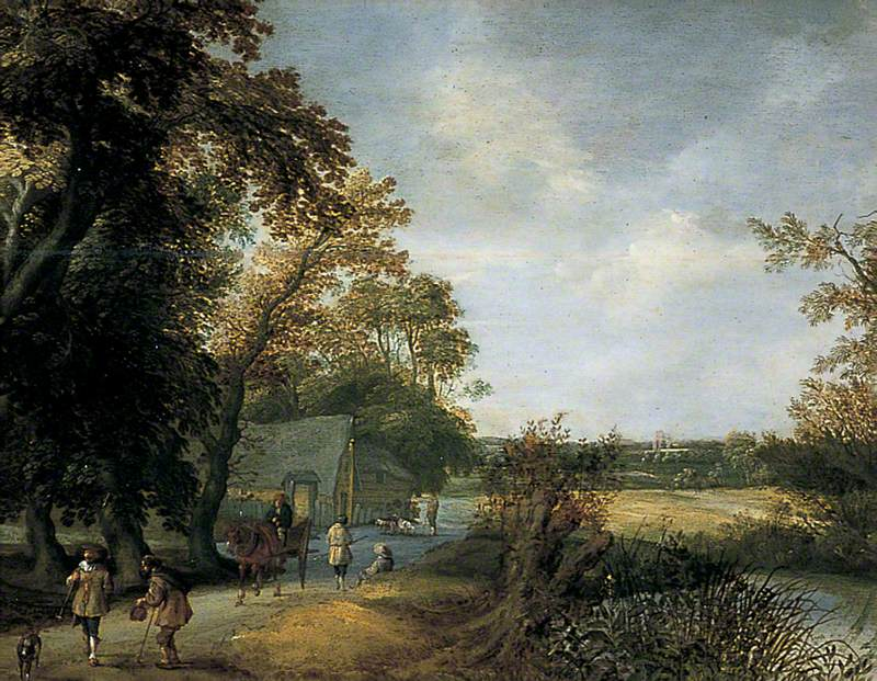 Landscape with Peasants on a Road