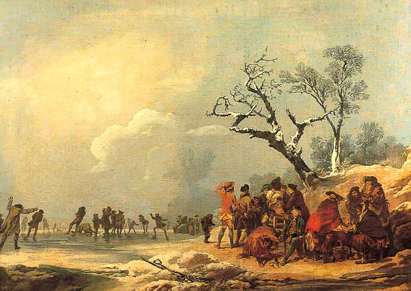 Winter Scene with Skating