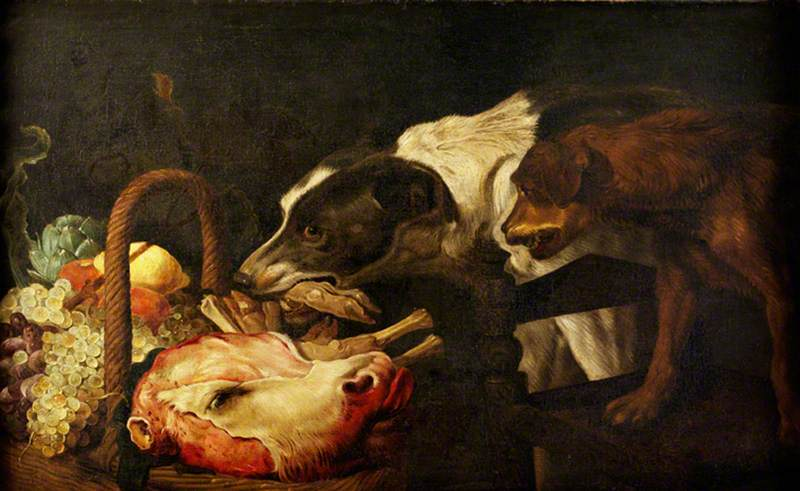Dogs Stealing Food from a Basket