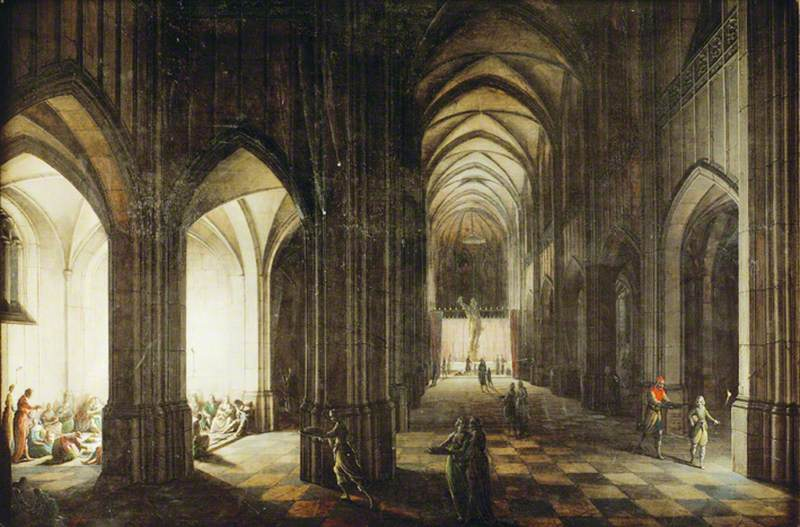 Interior of a Cathedral Dedicated to a Profane Form of Worship