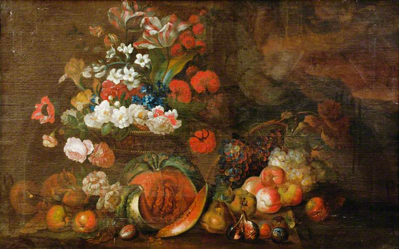 Still Life (Flowers and Fruit)
