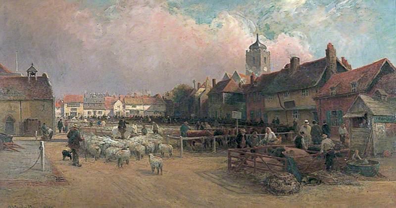 Market Day in Sandwich, Kent