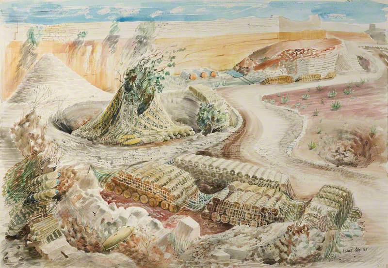 Maltese Landscape (Quarry) or Malta – R.A.F. Bomb Dump