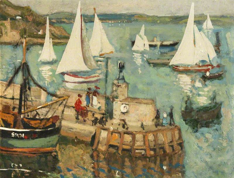 Harbour Scene with Yachts