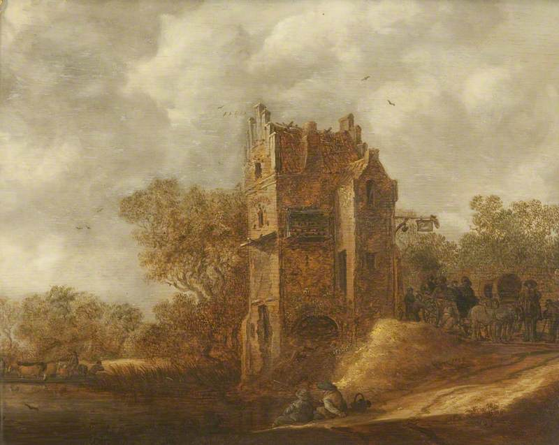 Landscape with Travellers outside an Inn