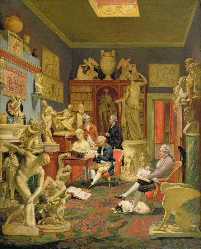 Charles Townley and Friends in His Library at Park Street, Westminster