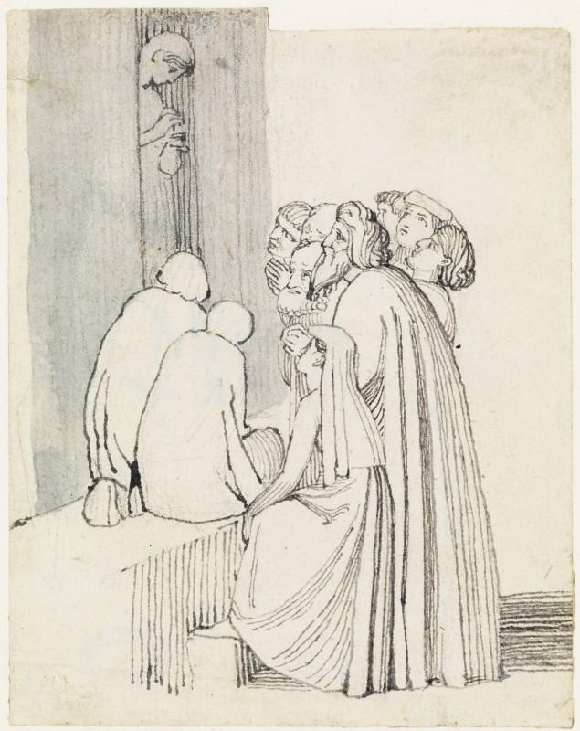 A Beggar Family Round a Door