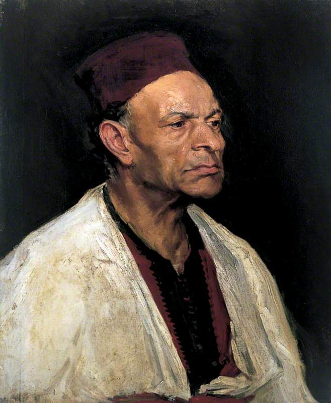 Portrait of a Man Wearing a Fez