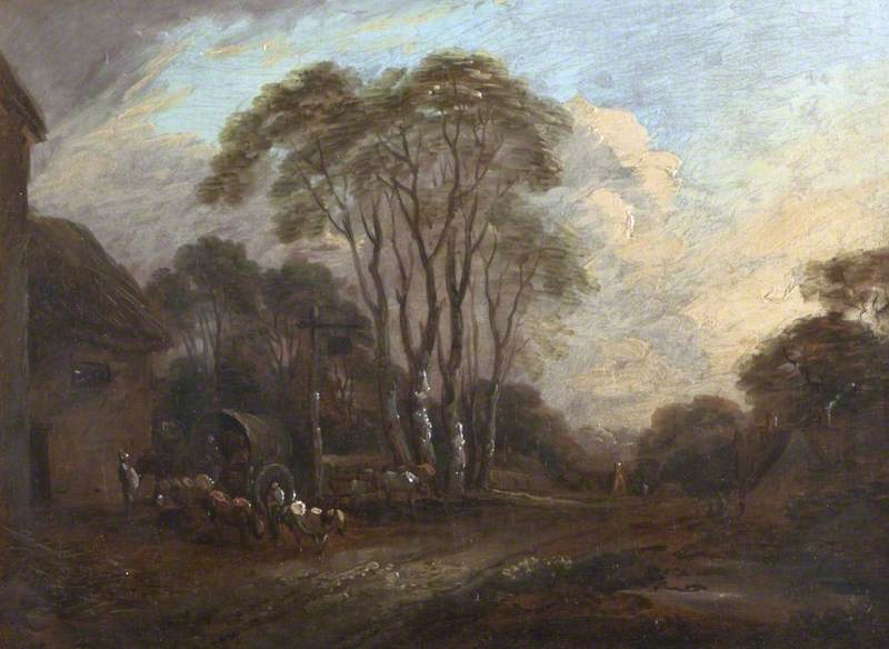 Wooded Landscape with a Village