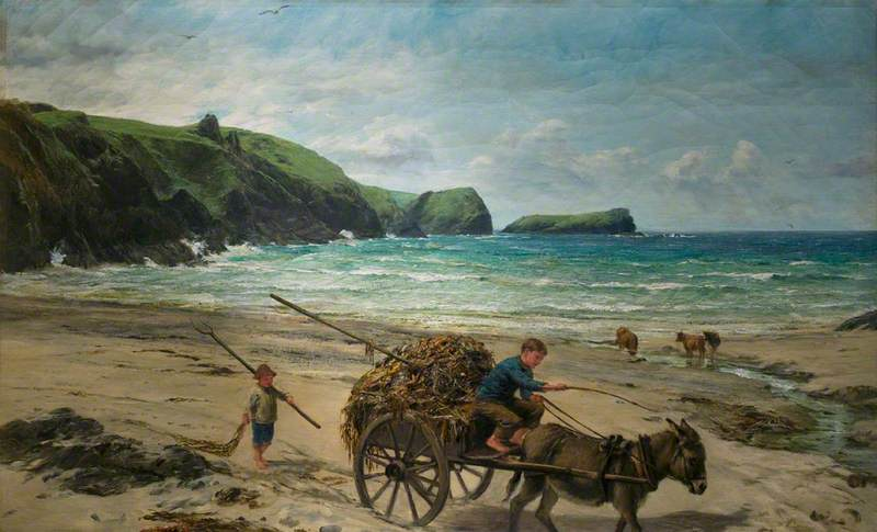 Carting for Farmer, Pengelly, Cornwall