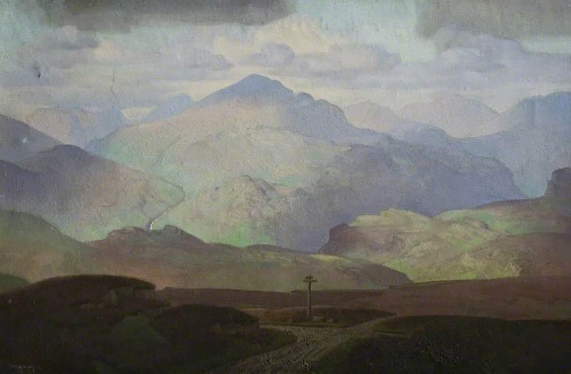 Scafell from Birker Moor, Eskdale, Cumberland