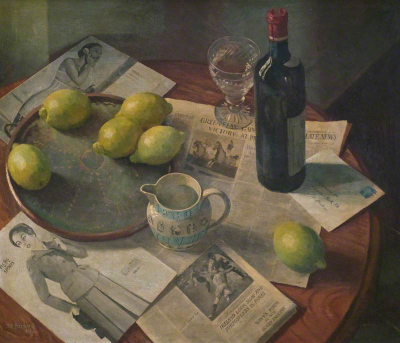 Still Life with Château Calon-Ségur 1943