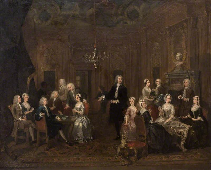 William Wollaston and his Family in a Grand Interior