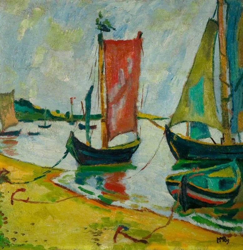 Nidden Coastline with Fishing Boats