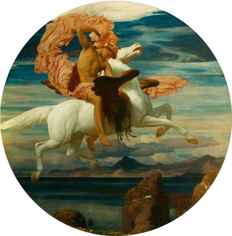 Perseus, on Pegasus, Hastening to the Rescue of Andromeda