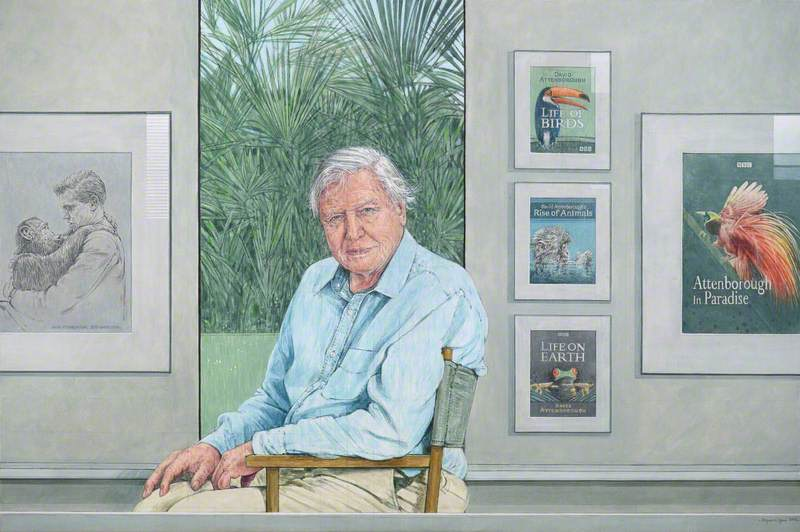 Attenborough in Paradise (Portrait of Sir David Attenborough)