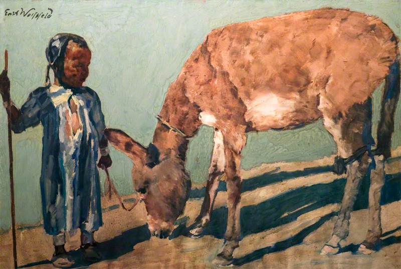 Young Arab with a Donkey