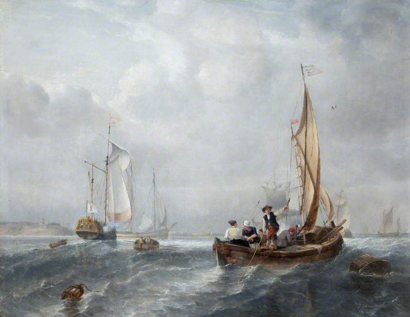 Small Ships and Boats off the Coast