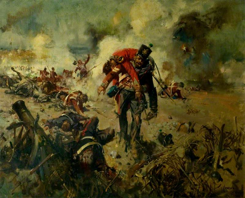 Lance Sergeant Philip Smith Winning The Leicestershire Regiment's First Victoria Cross for Bringing In Wounded Comrades at the Great Redan, Sevastopol, 18 June 1855