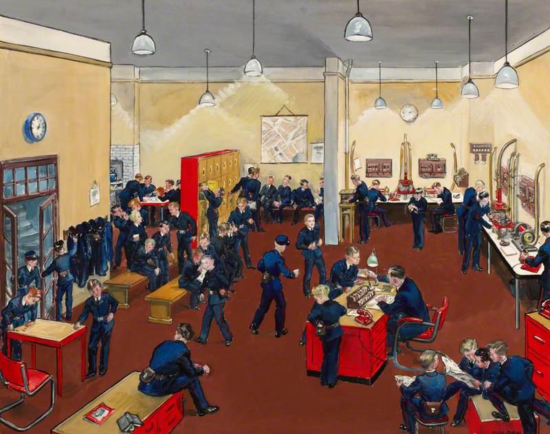 A London Telegraph Messenger's Dispatch Room