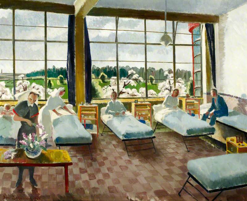 C Ward, 101 British General Hospital, Louvain