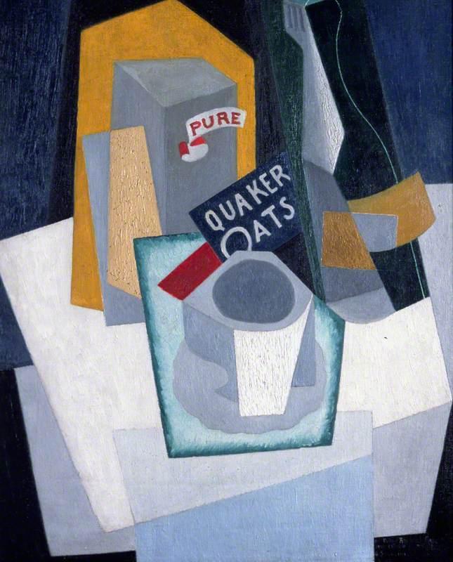 Quaker Oats Cubist Still Life