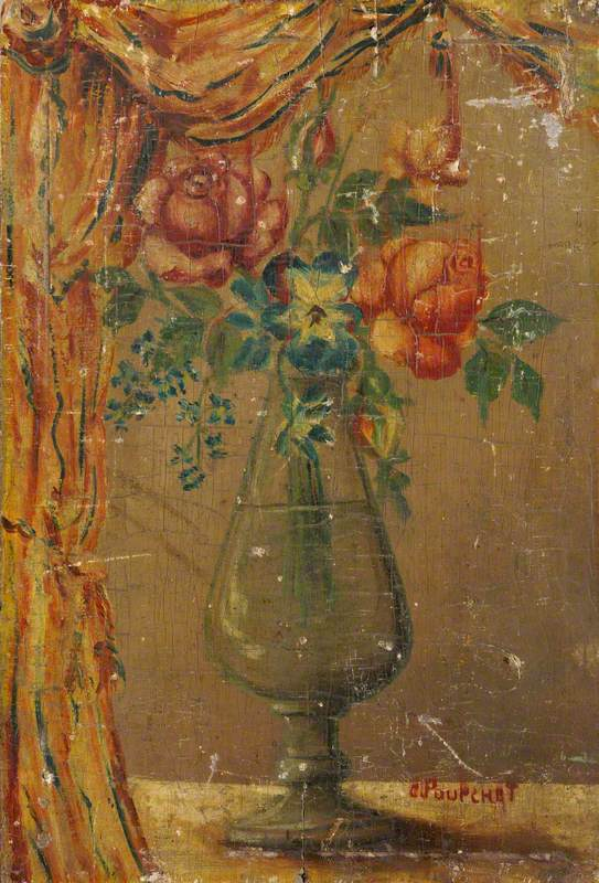 Study of Flowers and a Vase