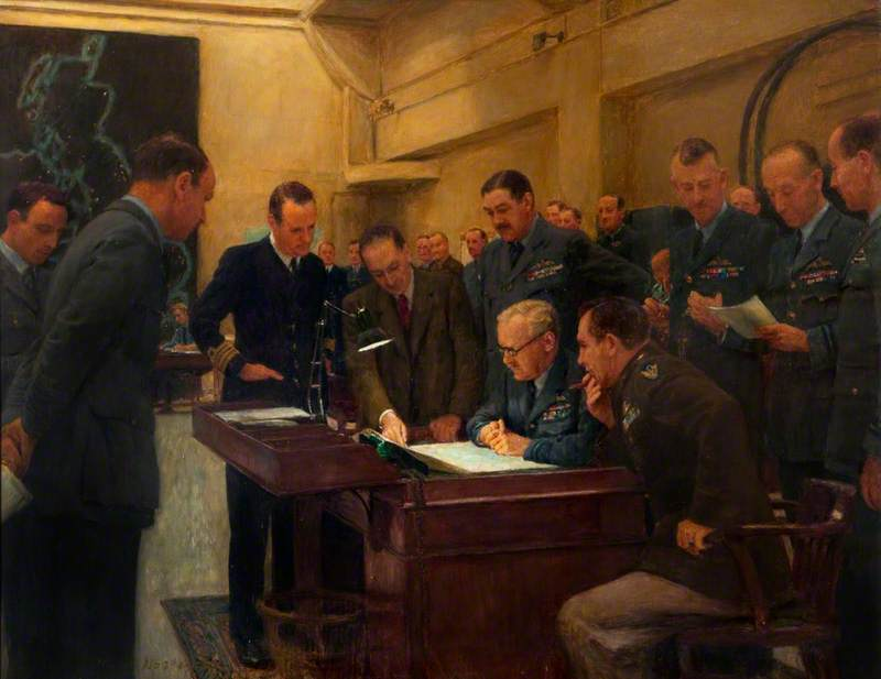 Operations Room Conference, Bomber Command, October 1943
