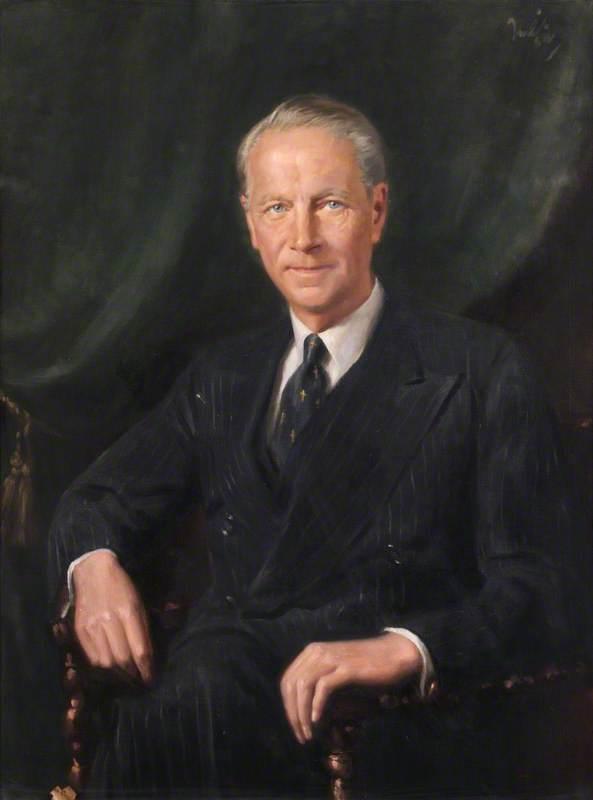 Portrait of an Unidentified Man in a Grey Suit ('Blue Eyes')