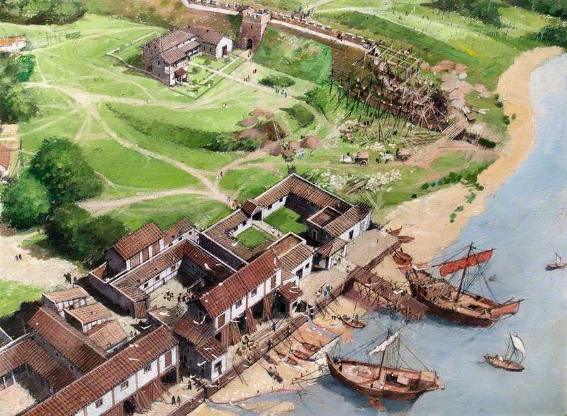 Artist's Impression of the Tower of London Site, c.AD200