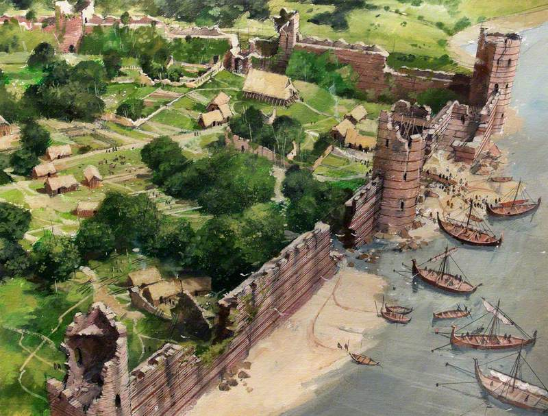 Artist's Impression of the Tower of London Site, AD886