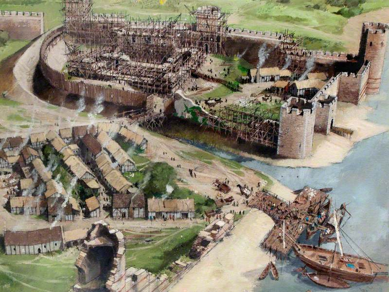 Artist's Impression of the Tower of London Site, 1080