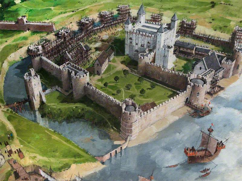 Artist's Impression of the Tower of London Site, 1240