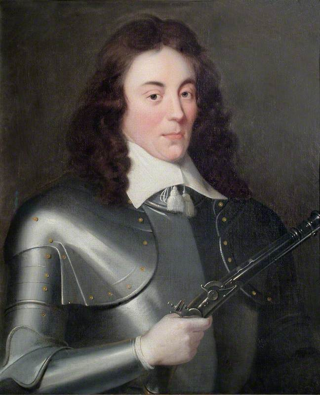 Portrait of an Unknown Man in Armour Holding a Pistol