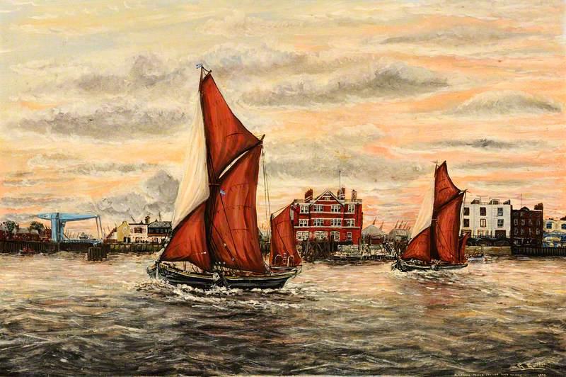 Sailing Barge at Blackwall